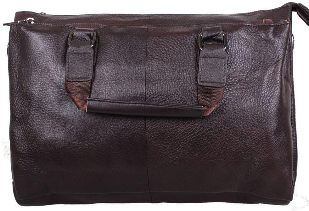 931442601814 Кожаная мужская сумка с ручками А4-989 коричневая - SUPERSUMKA интернет  магазин в Киеве