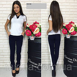 Костюм женский футболка поло + брюки 1065 ВП