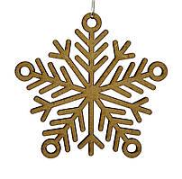 Дерев'яна новорічна іграшка заготівля з ДВП. Сніжинка