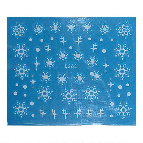 KATTi Наклейки водные - D 263 белые снежинки (новый год)
