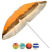 Зонт пляжный d1,8м серебро с наклоном (0035)