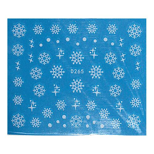 KATTi Наклейки водные - D 265 белые снежинки (новый год)