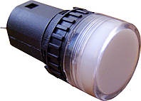Светосигнальная арматура AD16-16DS белая 24V  АC/DC