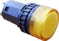 Светосигнальная арматура AD16-16DS желтая  24V АC/DC