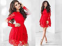 Платье  гипюровое в расцветках 30757, фото 1