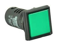 Светосигнальная арматура AD22-22F зеленая  220V АC