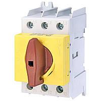 Выключатель нагрузки аварийный ETI LAS125 Y-R (желто-красная рукоятка) (4661108)