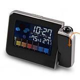 Электронные часы-проектор метеостанция calendario a schermo colorato, фото 2