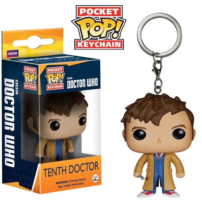 Фигурка-брелок Doctor (10-11-12)  Доктор Кто Doctor Who Funko Pop  10 Doctor Who