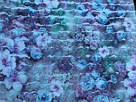 Трикотаж с рюшами ( цветочки)