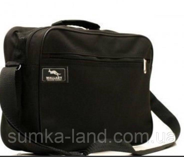 Мужская классическая черная сумка через плечо Wallaby