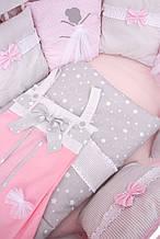 """Комплект постельного белья для новорожденного """"Танцующие балерины"""" ТМ Куписон  (hand made)"""