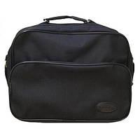 Мужская классическая черная сумка на один отдел Wallaby