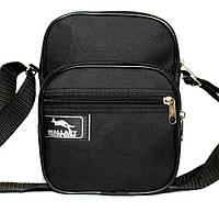 Мужская вертикальная классическая черная сумка Wallaby