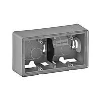 Коробка монтажная 2-постовая LEGRAND Valena Life  наружная алюминий (754212)