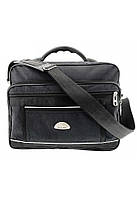 Мужская полукаркасная классическая черная сумка Wallaby