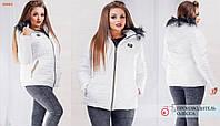 Теплая зимняя куртка- 46-56р-белый