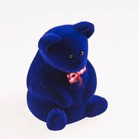 "Футляр для кольца ""Медведь большой"" синий"