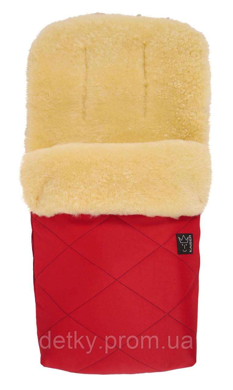 Kaiser Конверт тёплый из овчины медико-сорт Natura, красный - Детки Пром в Киеве