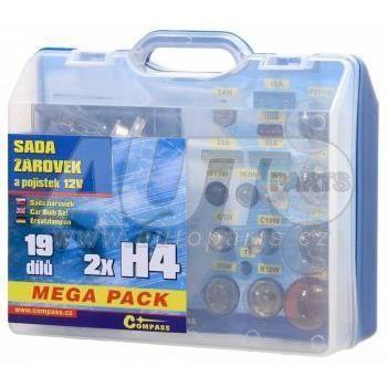 Лампочки сервисный набор MEGA  H4/H4 12v  для Skoda
