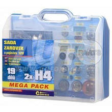 Лампочки сервісний набір MEGA H4/H4 12v для Skoda