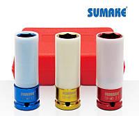 Набор головок ударных для колес с защитным кожухом (Sumake SIS-4421)