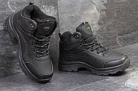 Мужские зимние ботинки Ecco черные 3395
