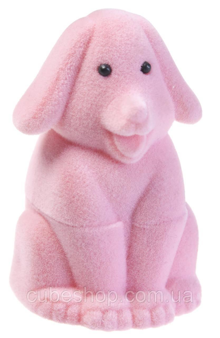 "Футляр для кольца ""Собака"" розовый"