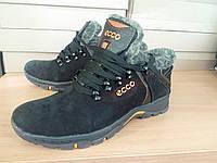 Мужские зимние ботинки из натуральной кожи Ecco