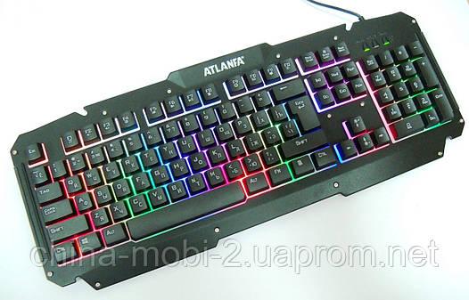 Игровая USB клавиатура с подсветкой, Atlanfa Gaming Blacklighting Keybord M500-S, фото 2