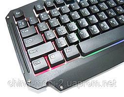 Игровая USB клавиатура с подсветкой, Atlanfa Gaming Blacklighting Keybord M500-S, фото 3