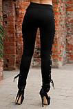Лосины украшенные шнуровкой черные, фото 2