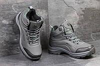 Мужские зимние ботинки Ecco серые 3397