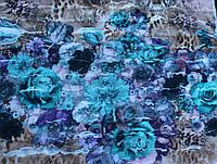 Трикотаж с рюшами (цветочки)