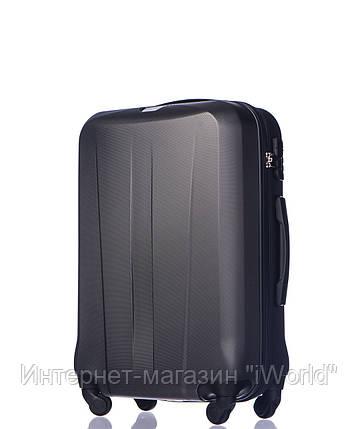 Дорожный чемодан из ABS пластика на 4-х колесах (средний) Puccini Paris  серого цвета, фото 2