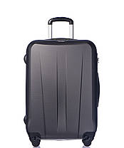 Дорожный чемодан из ABS пластика на 4-х колесах (средний) Puccini Paris  серого цвета, фото 3