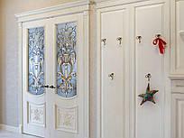 Витражи Тиффани в распашные  межкомнатные двери