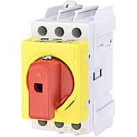 Выключатель нагрузки аварийный ETI LAS40 Y-R40 (желто-красная рукоятка) (4661014)