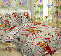 Полуторный комплект детского постельного белья поплин Дружок TM TAG