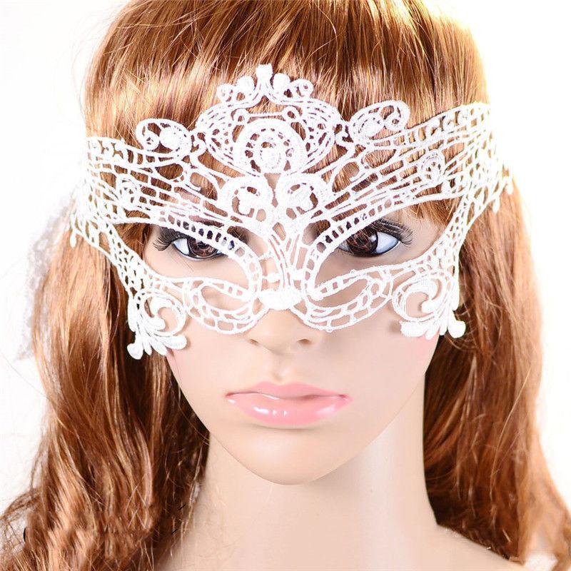 Ажурная маска белая