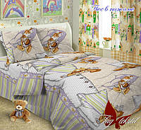 Полуторный комплект детского постельного белья поплин Пес в пижаме TM TAG
