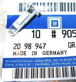 Лампочка (автолампа, лампа, светодиод) переключателя света фар 12V-0.5W GM 2098947 90589796 Opel Astra-G Zafir