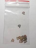 Фигурки для дизайна ногтей металлические рыбки