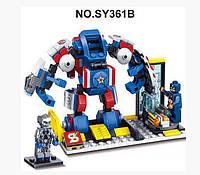 Конструктор SY361B Heroes Assemble Альтрон против робота Капитана Америка 246 дет