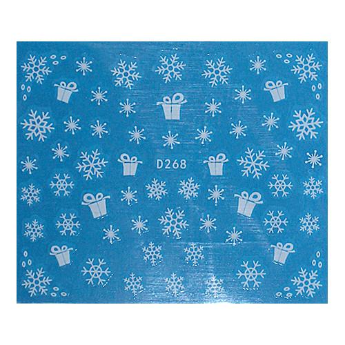 KATTi Наклейки водные - D 268 белые снежинки (новый год)
