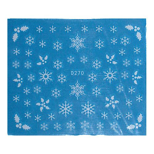 KATTi Наклейки водные - D 270 белые снежинки (новый год)