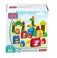 Конструктор для малышей Mega Bloks Животные 50 деталей первое строительство First Builders DPY43