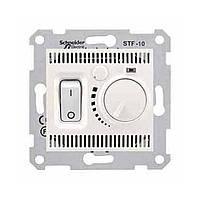 Термостат для теплого пола с датчиком Schneider  Sedna Кремовый (SDN6000323)