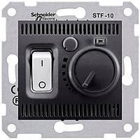Термостат для теплого пола с датчиком Schneider  Sedna Графит (SDN6000370)
