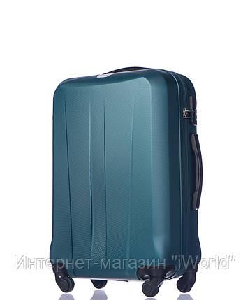 Дорожный чемодан из ABS пластика на 4-х колесах (средний) Puccini Paris  бледно зеленого цвета, фото 2